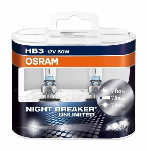 OSRAM HB3 NIGHT BREAKER UNLIMITED 12V 60W DUO BOX