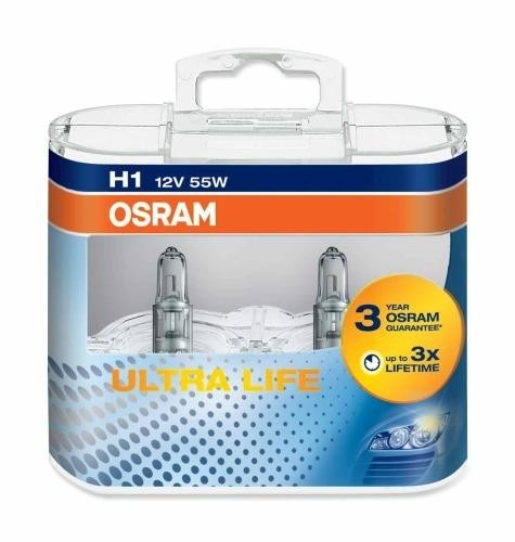 OSRAM H1 ULTRA LIFE 12V 55W DUO BOX