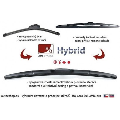 Hybridní stěrače HQ Aero Dynamic 525/500 mm