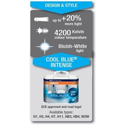 OSRAM H11 COOL BLUE INTENSE 12V 55W DUO BOX