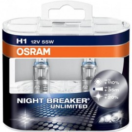OSRAM H1 NIGHT BREAKER UNLIMITED 12V 55W DUO BOX