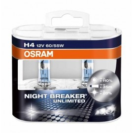 OSRAM H4 NIGHT BREAKER UNLIMITED 12V 60/55W DUO BOX