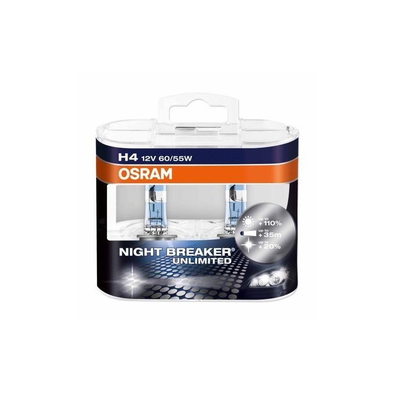 OSRAM H4 NIGHT BREAKER UNLIMITED 12V 60/55W P43t DUO BOX OSRAM 472NBU 4052899017214