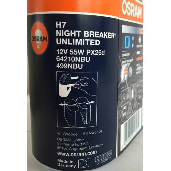 osram h7 night breaker unlimited 12v 55w duo box. Black Bedroom Furniture Sets. Home Design Ideas
