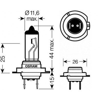 OSRAM H7 NIGHT BREAKER UNLIMITED 12V 55W DUO BOX