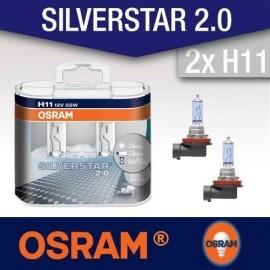 OSRAM H11 SILVERSTAR 12V 55W DUO BOX