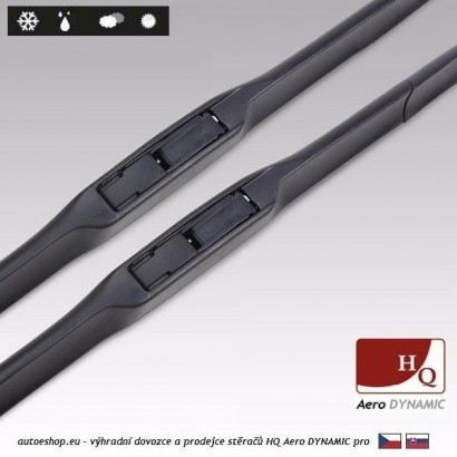 Hybridní stěrače HQ Aero Dynamic 550/500 mm