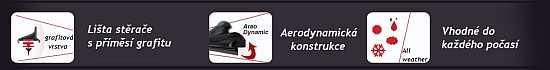 Stěrače HQ AERO DYNAMIC